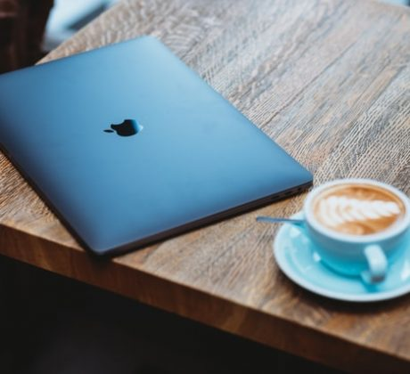 Laptop & Chai latte