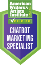 Chatbot Marketing Specialist Prototypes Conversational Design Copywriter Certification Badge