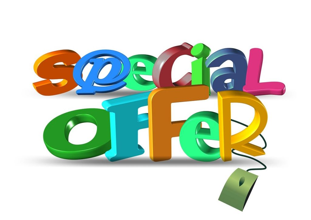 Special Offer with computer mouse - Colorful Direct Response Marketing Graphic