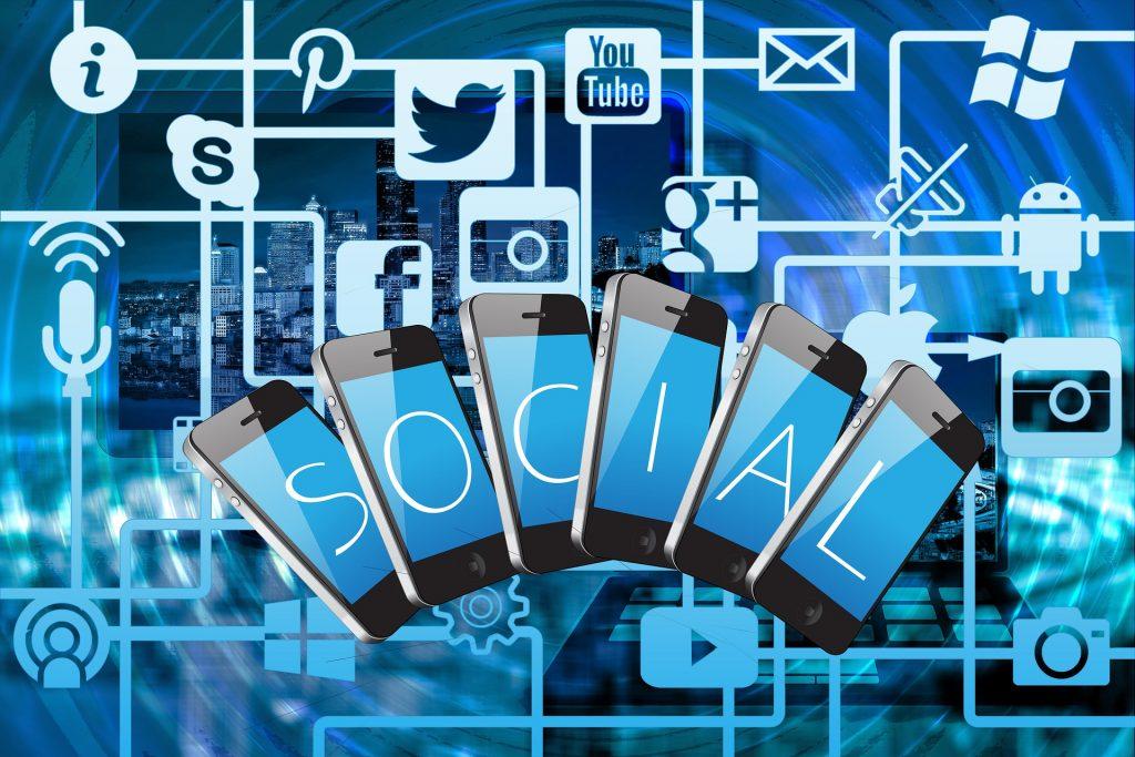 Building online presence with social media — SOCIAL — social media icons