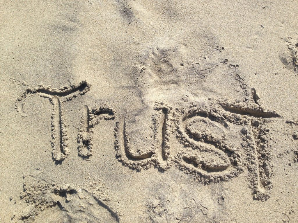 Trust written in the sand